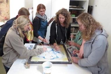 Creating the image--teamwork!