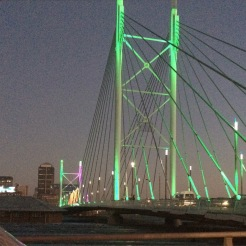 Mandela bridge in downtown Joburg