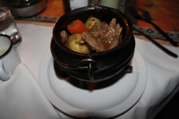 Beef stew at Boma dinner